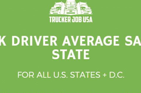 average truck driver salary per us state banner