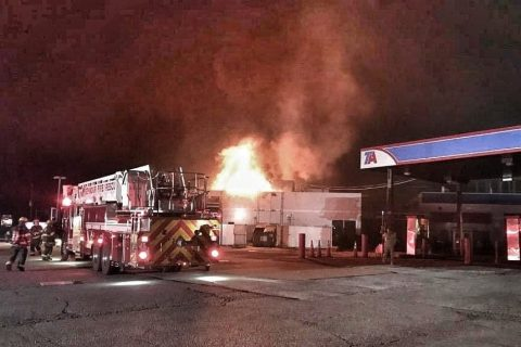 Indiana Truck Stop Suffers Heavy Damage in Fire