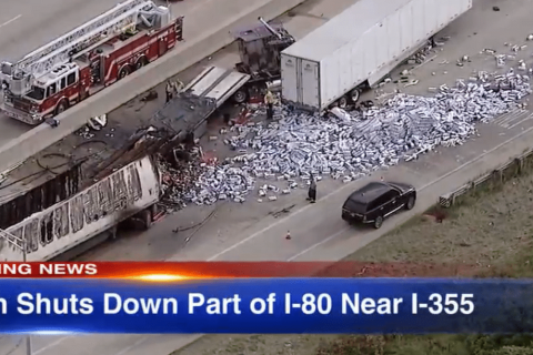 Trucker Dies After Causing a Fiery Chain Crash on I-80