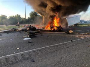 Trucker Dies in a Fatal Crash on I-69 Near Warren Exit