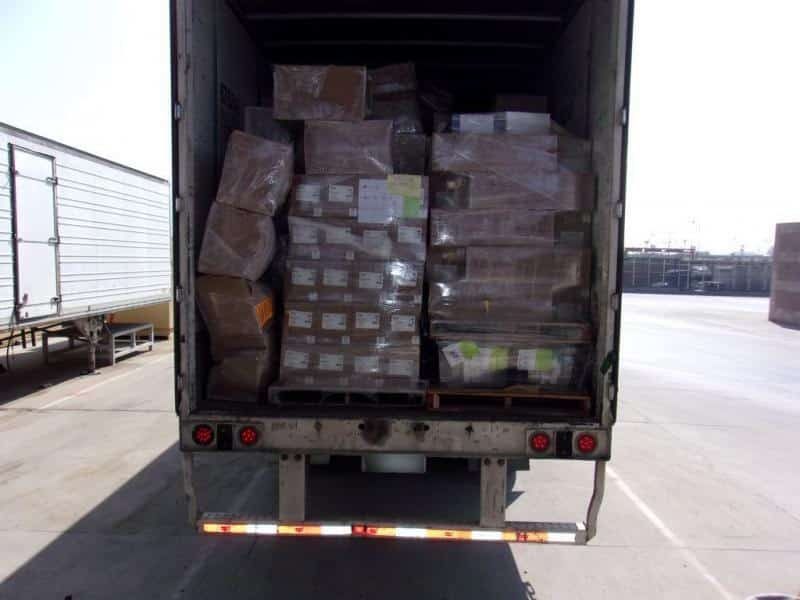 Feds Seize $7m in Drugs Concealed as Medical Supplies - The truck before unloading