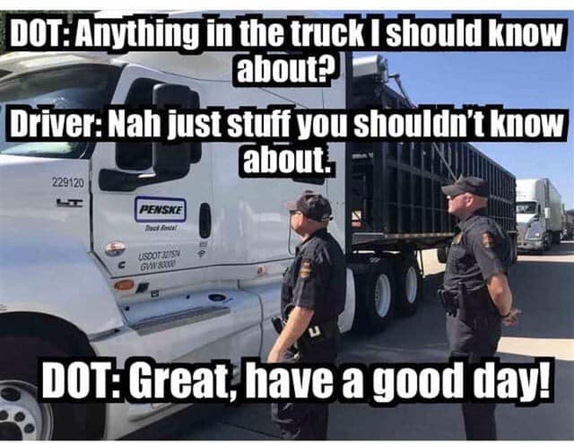 Every Trucker's Dream about DOT Inspections Meme