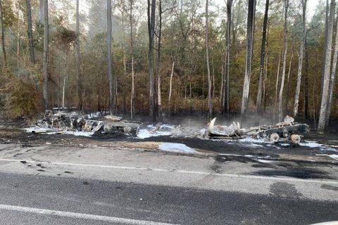 Trucker Rear-Ends a Trooper, Causes Hazmat Explosion