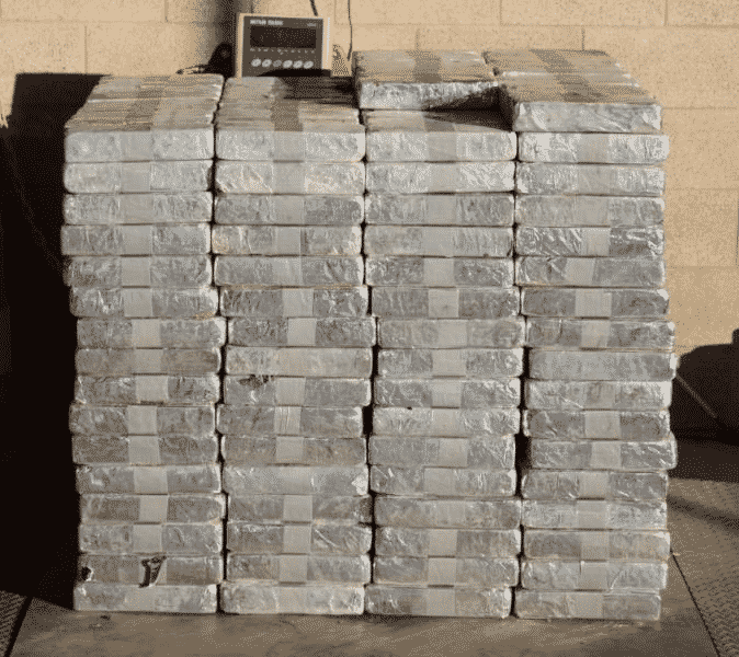 Packages containing 1,853 pounds of methamphetamine seized by CBP officers at Pharr International Bridge.