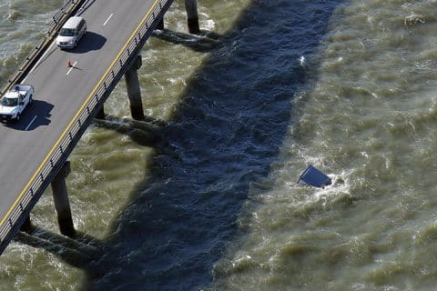 Trucker Plunges in Chesapeake Bay, Coast Guard Call Off Search